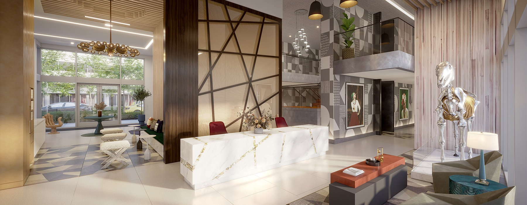 rendering of lobby at Rylan